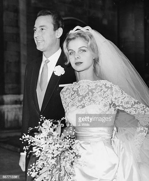 Businessman Gordon White Baron White of Hull and expartner of Princess Grace Kelly of Monaco with his new bride Elizabeth Kalen the daughter of a...