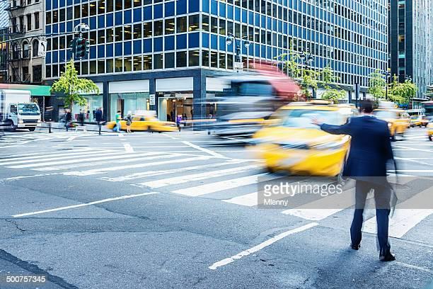 ビジネスマン思わずマンハッタンのタクシーをご利用ください。