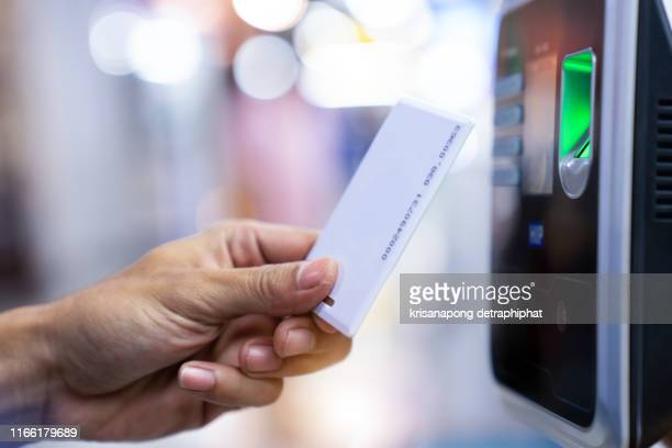 businessman hand scanning finger on machine,technology concept, business concept, - attending stock pictures, royalty-free photos & images