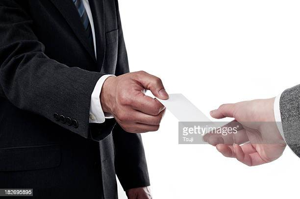 Handing out business cards stock photos and pictures getty images businessman handing out blank card colourmoves