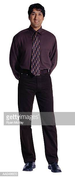 businessman, hands behind back - 後ろ手 ストックフォトと画像