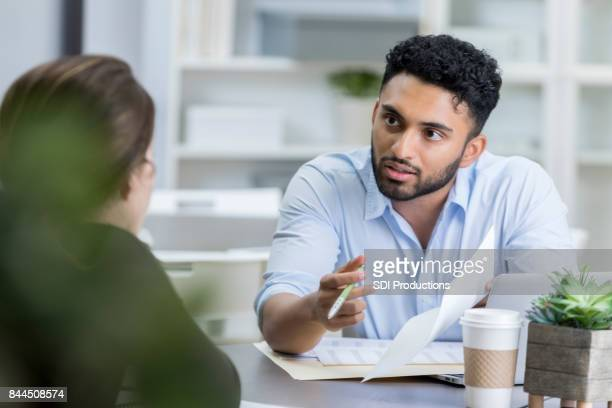 Businessman has a serious discussion with colleague
