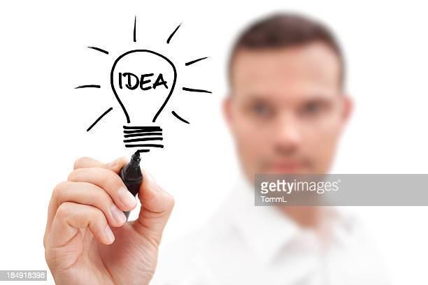 Homme d'affaires qui a une idée