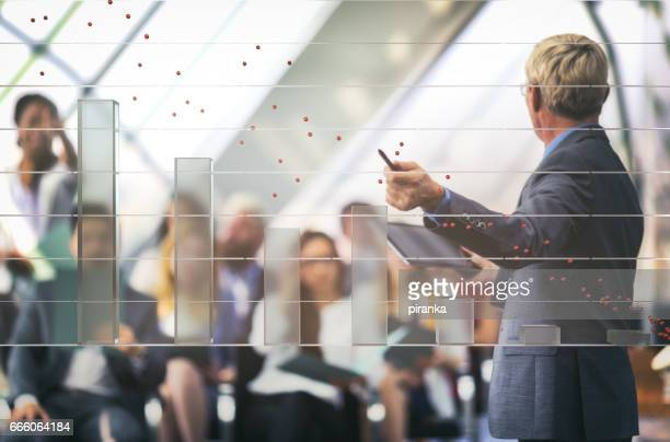 Businessman having a business presentation