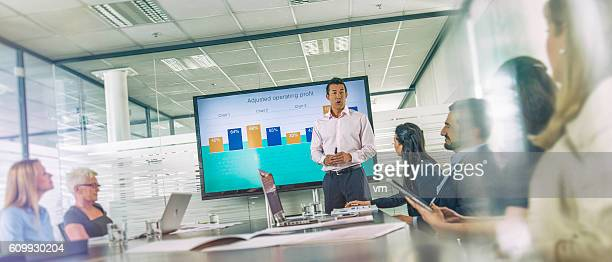 Businessman having a presentation in the office