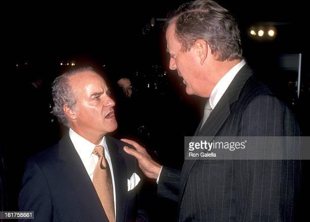 Businessman Henry Kravis and businessman David H Koch attend the International Fine Art and Antique Dealers Show on October 10 1996 at Seventh...