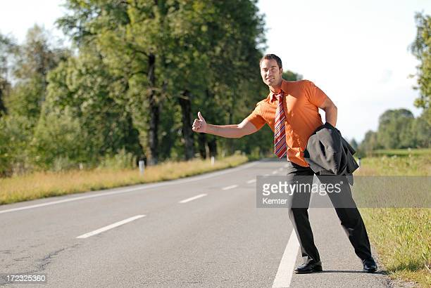Homme d'affaires du stop