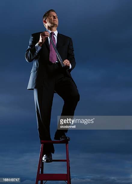Businessman Holding a Periscope