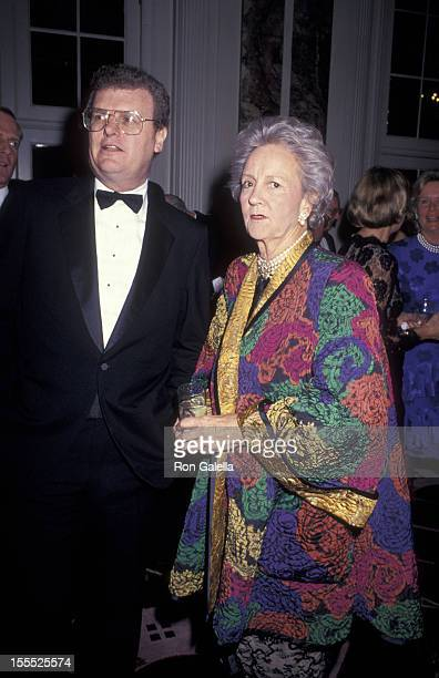 Businessman Howard Stringer and publisher Katharine Graham attend 36th Annual Celebral Palsy Humanitarian Awards on January 10 1991 at the Waldorf...