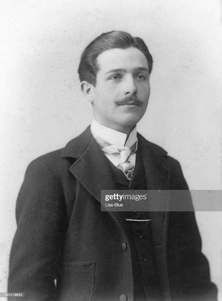 Geschäftsmann in 1919.Black und weiß : Stock-Foto