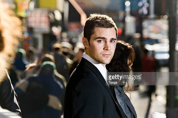 Businessman in a crowd