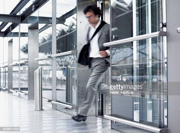 Businessman in a Hurry at Airport
