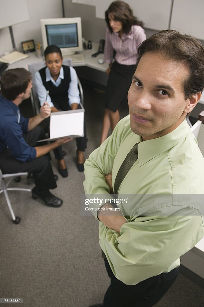 Businessman in a meeting : Stockfoto