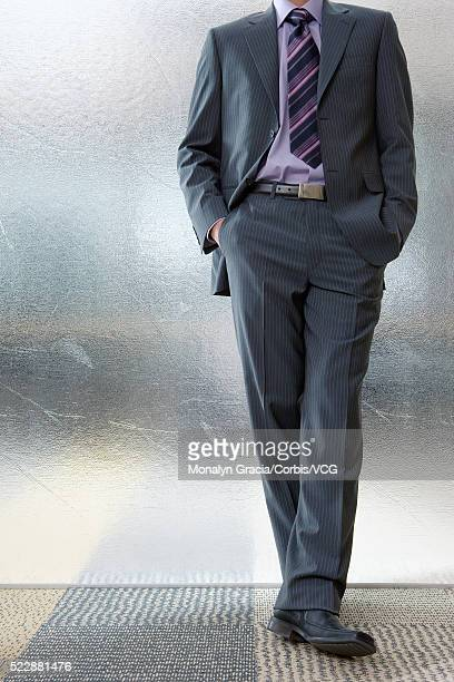 Businessman in a pinstriped suit
