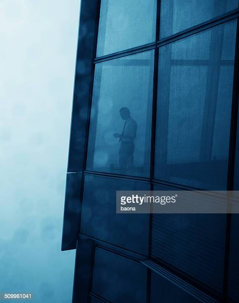 businessman in a skyscraper