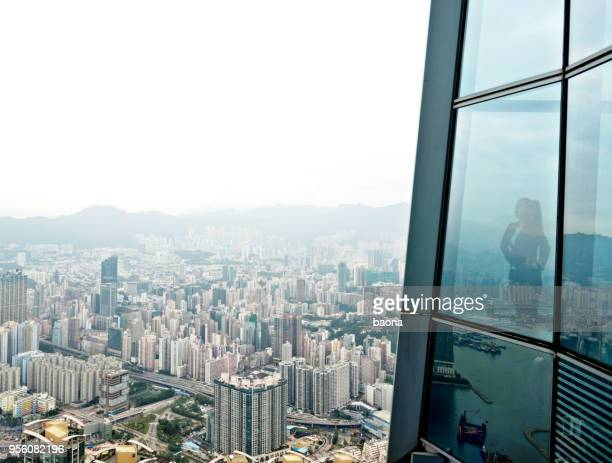 businessman in a skyscraper - looking at view stock pictures, royalty-free photos & images