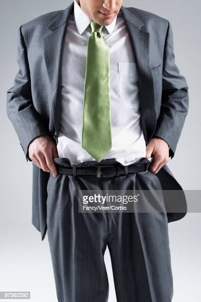 Businessman in baggy suit