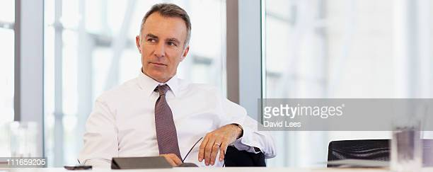 Businessman in board room