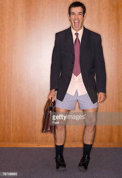 Businessman in Boxer Shorts