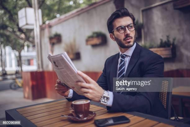 Businessman in cafe