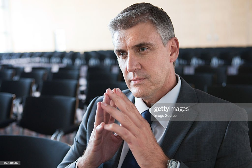 Businessman in conference room : Stock Photo