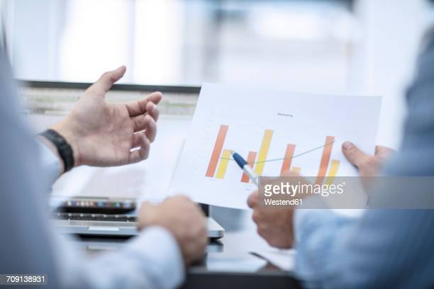 Businessman in counselling interview with customer