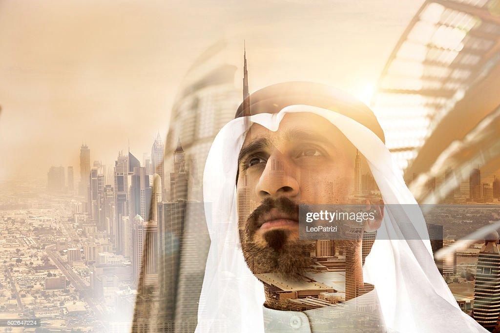 Geschäftsmann in Dubai : Stock-Foto