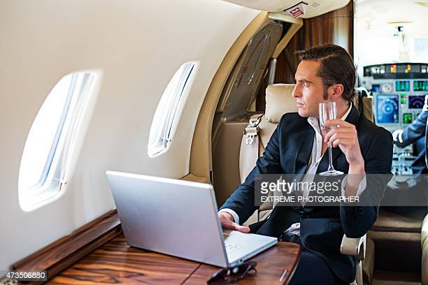 Businessman in first class
