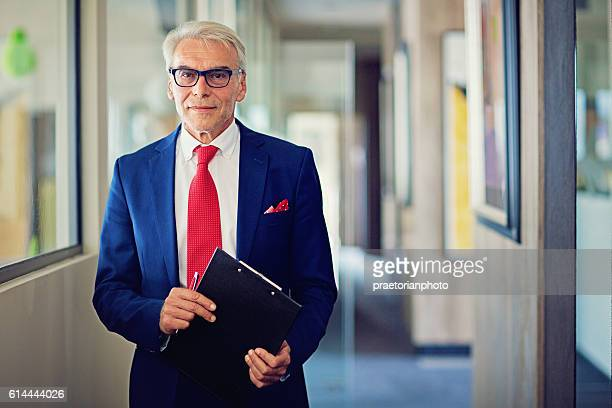 Businessman in his office