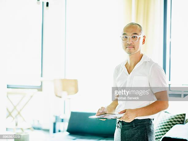 Businessman in office coworking space
