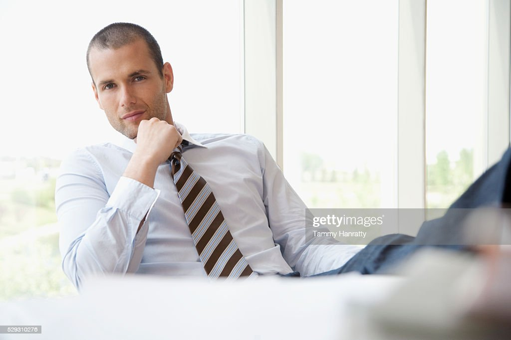 Businessman in office : Foto de stock