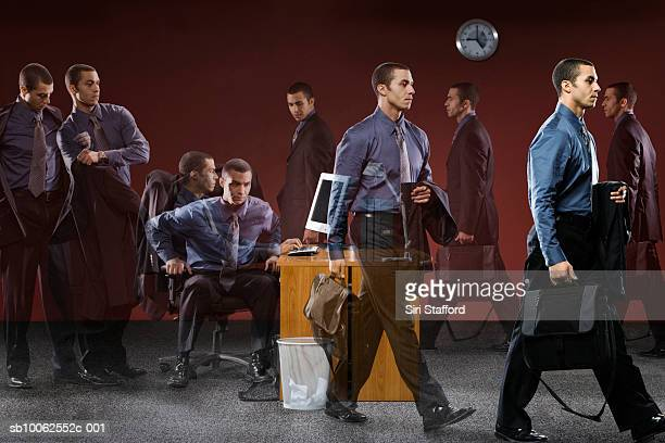Businessman in office (Multiple Exposure)