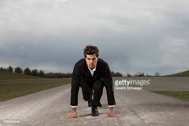 Businessman in Poleposition