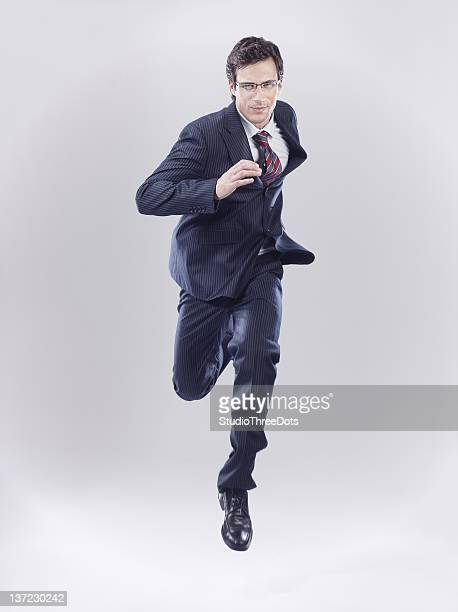 businessman in rush