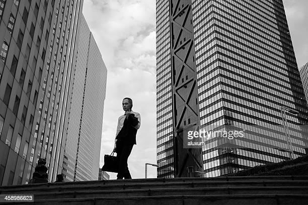 日本東京新宿のビジネスマン