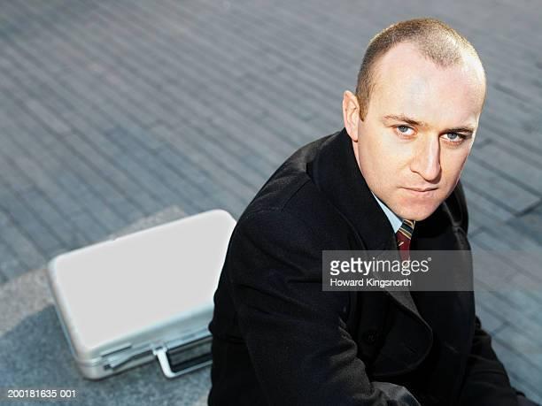 Businessman in street, portrait