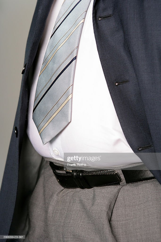 Businessman in suit, mid section : Stock Photo