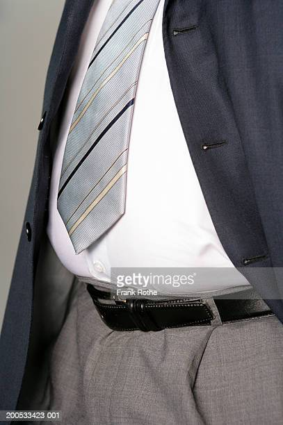 Businessman in suit, mid section