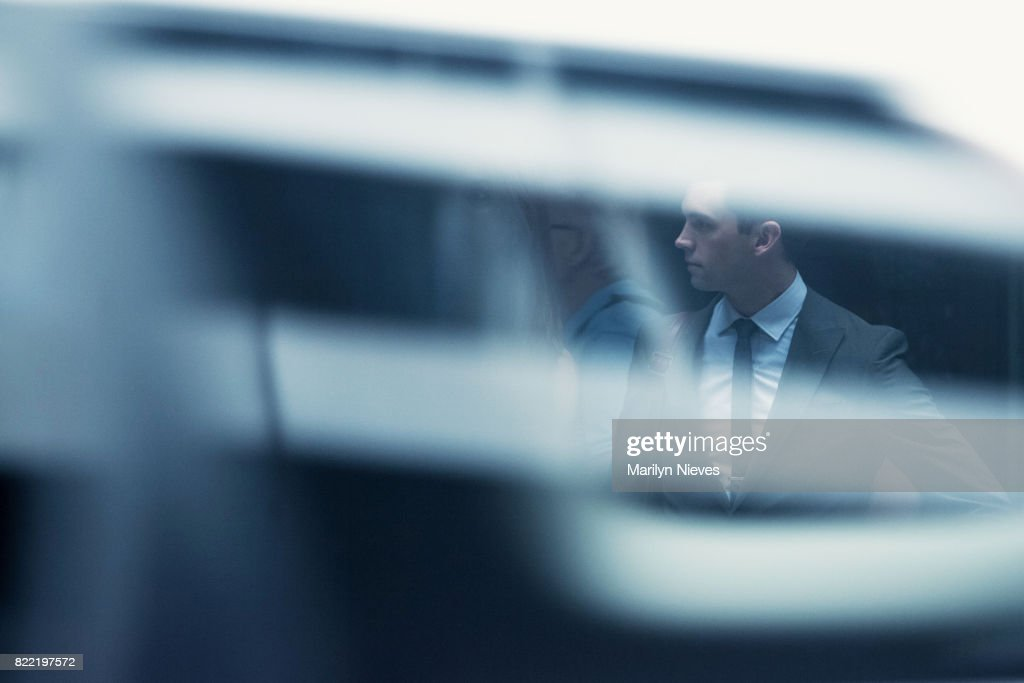 businessman in the city : Stock Photo