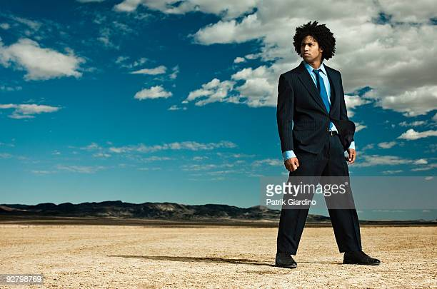Businessman in the Desert