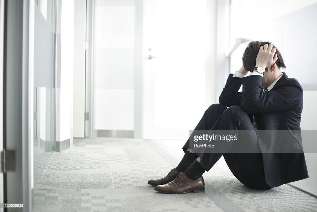 businessman in the office : ストックフォト