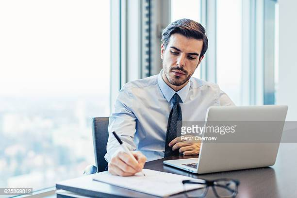 businessman in the office - accountant stock photos and pictures
