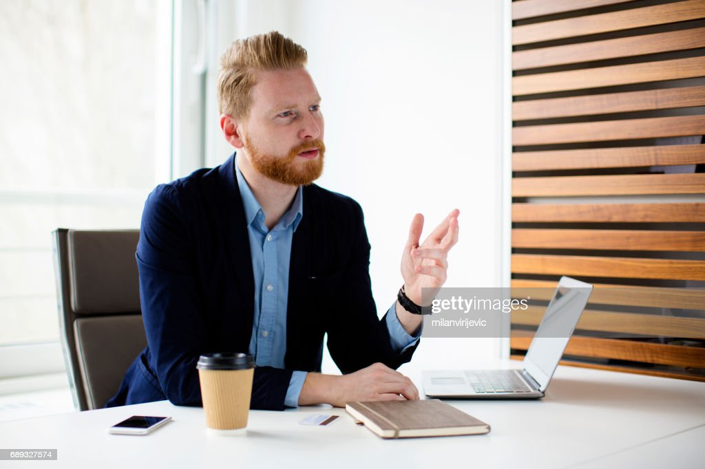 Businessman in the office : Stock Photo