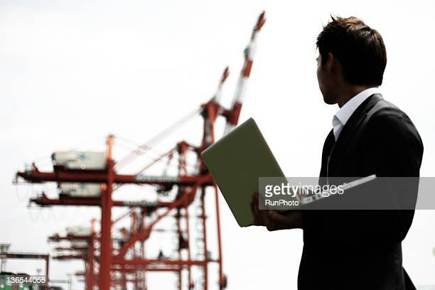 businessman in the the construction site