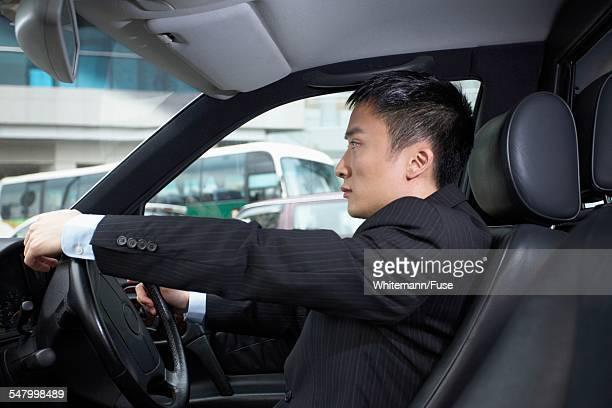 Businessman in Traffic