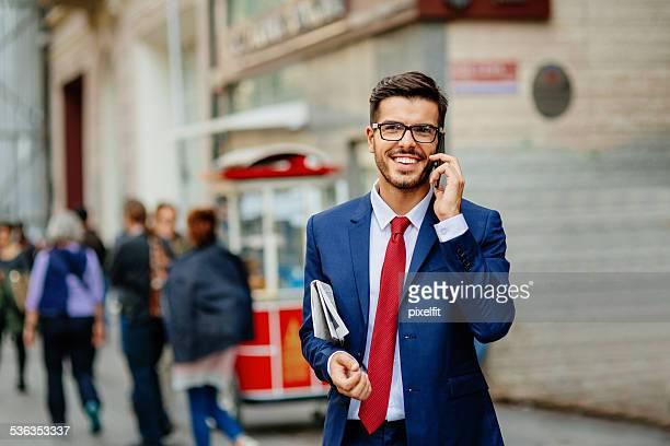 Businessman in Turkey with smart phone
