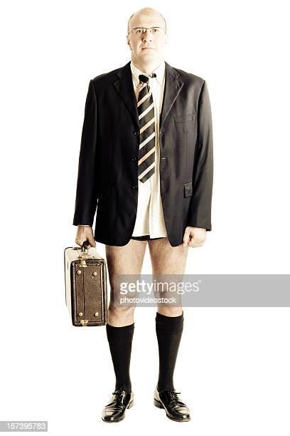 Businessman in underware