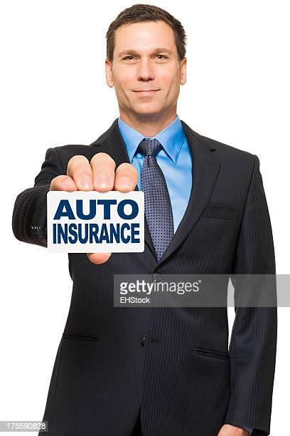 Empresário seguro vendedor isolado em fundo branco