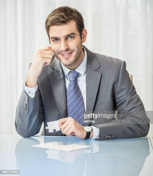 Businessman is thiniking about the solution