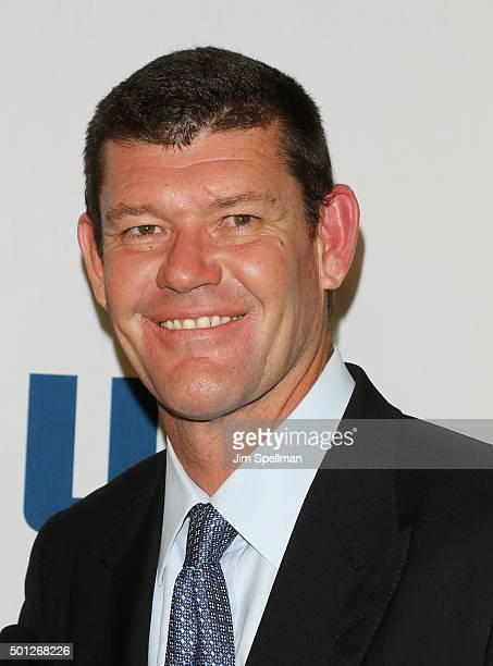 Businessman James Packer attends the Joy New York premiere at the Ziegfeld Theater on December 13 2015 in New York City